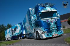 Semi Trucks, Big Trucks, Customised Trucks, Highway To Hell, Coaches, Airbrush, Trailers, Hot Rods, Pond