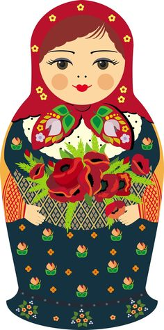 Russian doll illustration Matryoshka - Russian nesting doll.More Pins Like This At FOSTERGINGER @ Pinterest