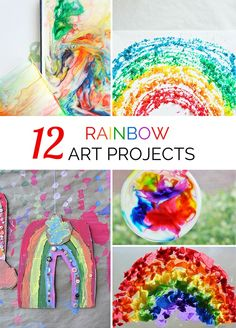 12 Vibrant Rainbow Art Project for Kids.