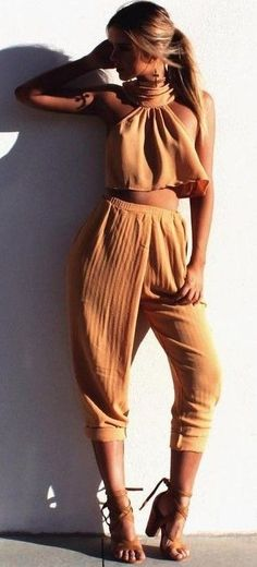 #summer #girly #outfitideas |  Tangerine Pant Set