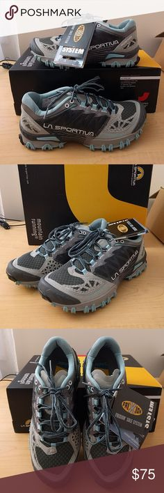 La Sportiva Women's Bushido trail shoes Barely used women's size 8. These run about 1/2 size smaller than stated, so if you normally wear 7.5 these should fit well. La Sportiva Shoes Athletic Shoes