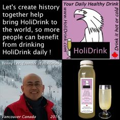 Just launched a crowdfunding campaign, please support us and spread the words, so more people can benefit from HoliDrink. Thank you. For details, please go to https://igg.me/at/HoliDrink.