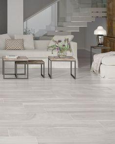 tile floor Keln Taupe 9 x 48 Porcelain Wood Look Tile Grey Wood Tile, Wood Look Tile Floor, Wood Tile Floors, Light Grey Wood Floors, Faux Wood Tiles, White Hardwood Floors, Wood Like Tile, Wood Floor Colors, Gray Tiles