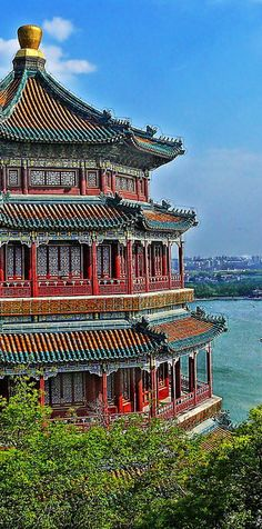 Reconstructed Yellow Crane Terrace in Wuhan, Hubei Province