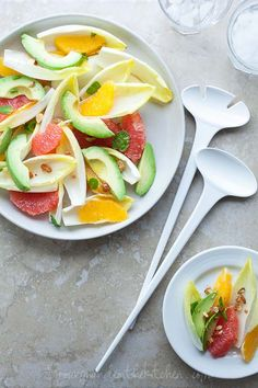 Citrus Avocado Endive Salad on gourmandeinthekitchen.com
