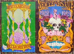 Grateful Dead BG 152-153 NYE 1968 uncut poster. This is a rare BILL GRAHAM PRESENT?S uncut New Year?s Eve #BG152 & BG153 posters from concerts at the FILLMORE WEST and WINTERLAND in San Francisco, Ca. These were for NEW YEAR'S EVE 1969 and admission INCLUDED BREAKFAST. The left BG-153 poster is for the 1968 New Year's Eve Vanilla Fudge, Richie Havens, Cold Blood, and The Youngbloods with art by Lee Conklin. The BG-152 right side is THE GRATEFUL DEAD, QUICKSILVER MESSENGER SERVICE, SANTAN...