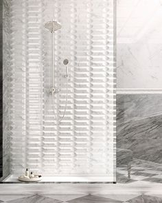 INSPIRE: pure white tiles for the #bathroom #interiordesign #wall #covering