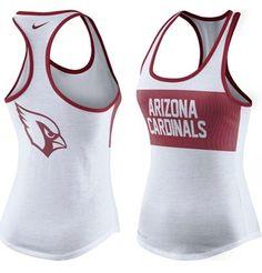 Women's Nike White Arizona Cardinals Performance Tank Top #AZCardinals #NFLStyle