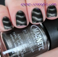 Color Club - Steel of the Night  Color : Black with dark steel grey silver magnetic shimmer