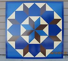 Star of Bethlehem - SB0001 Star of Bethlehem barn quilt handpainted with light blue, reflex blue, chamois, medium brown and a border in refl...