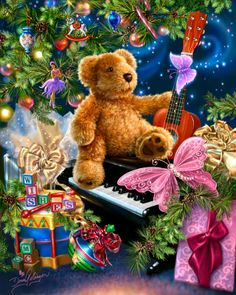 Christmas Bear Wishes by Dona Gelsinger