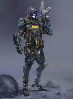 Bone Cyborg Soldier R Concept by Ivan Kashubo Cyberpunk Rpg, Cyberpunk Character, Armor Concept, Concept Art, Character Concept, Character Art, Chasseur De Primes, Arte Robot, Future Soldier