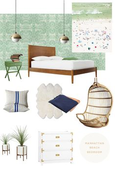 modern beach bedroom // smitten studio