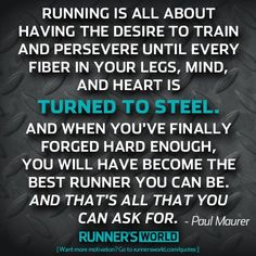 This speaks to me more in relation to running the race of life than literal running.