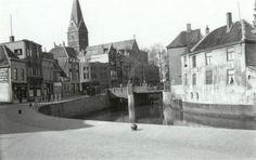 Markendaalseweg met zicht op de brug met de Haagdijk en de kathedraal St. Barbera
