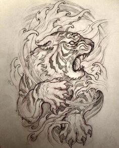 You are in the right place about lion tattoo Here we offer you the most beautiful pictures about the tattoo … Japanese Tiger Tattoo, Japanese Dragon Tattoos, Japanese Tattoo Designs, Japanese Phoenix Tattoo, Japanese Tattoo Meanings, Japanese Sleeve Tattoos, Tattoo Design Drawings, Tattoo Sleeve Designs, Tattoo Sketches