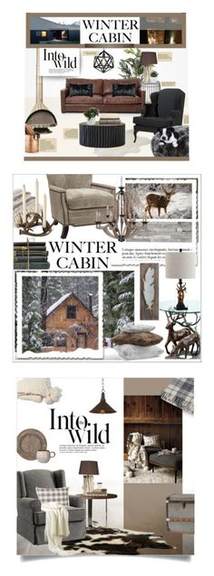 """""""Winners for Into the Woods: Cozy Cabin"""" by polyvore ❤ liked on Polyvore featuring interior, interiors, interior design, home, home decor, interior decorating, Pols Potten, Design Within Reach, Plow & Hearth and M&Co"""