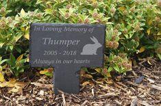 The T Bird Personalised Blue Photo Memorial Plaque Stake Waterproof Pet Memorial Grave Marker Plaque Outdoor Garden