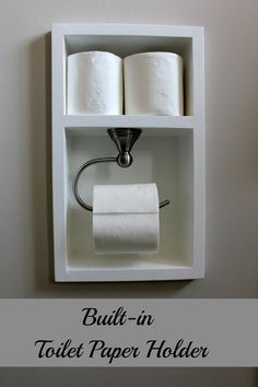 Gabriel wall system hanging organizer do it yourself home projects this is such a great idea built in toilet paper holder solutioingenieria Choice Image