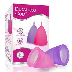 Dutchess Menstrual Cups: Available in two sizes, available in two colors.