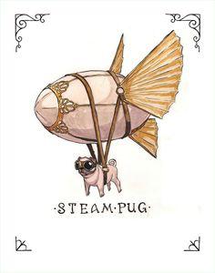 Steampug Print