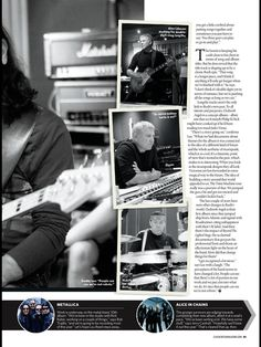 Page 2 of an article detailing an interview with Geddy Lee of RUSH discussing the band's 19th studio release 'Clockwork Angels' due in May 2012