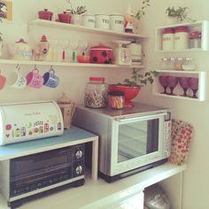 キッチン収納/DIY/雑貨/スイマー/食器棚を半分に。/Kitchen…などのインテリア実例 - 2014-06-01 22:06:08 | RoomClip(ルームクリップ)