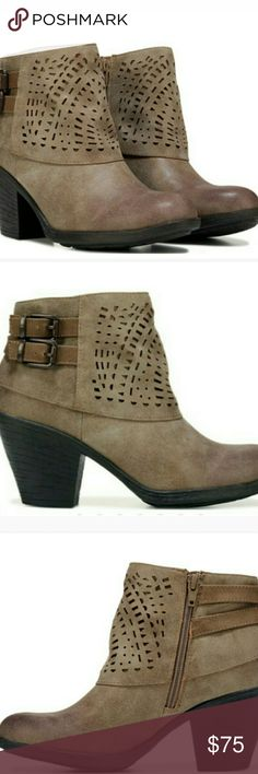 Women's Ankle Booties Make a detailed impression with this bootie from Eurosoft . Features a faux leather upper in an ankle bootie style with round toe, inside zipper, laser cutouts, strap and buckle details, smooth lining, microfiber comfort footbed, traction outsole, 3 inch heel. Check out my closet for other name brand apparel + more added daily. Have a wonderful day everyone, and thanks in advance for stopping by my closet. Eurosoft Shoes Ankle Boots & Booties