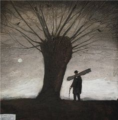 John Caple: Withy Man, Somerset  9¾ x 9¾ ins
