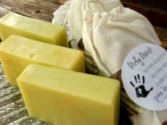 Handmade Soap Green Tea Citrus 3 Bars. $15.00, via Etsy.