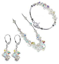 $96.99  Made with 100% Austrian Swarovski Elements Crystal. Superb quality, Magnificent creation and a bargain price. What more can you expect These Crystals are multi faceted making them glitter like Diamonds. If you do not have Swarovski Crystal Jewelry then it is time to try this one Length of Bracelet is 7.5 inches. Certainly a set that you do not want to miss. Buy now and grab this opportunity to secure one...