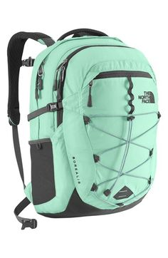 The North Face Borealis Daypack for Women (Surf Green/Asphalt Grey). Volume: 1526 cu in. Waist Belt: yes, removable. The North Face, North Face Bag, North Face Women, North Faces, Laptop Backpack, Backpack Bags, Laptop Bags, Adidas Backpack, Totes