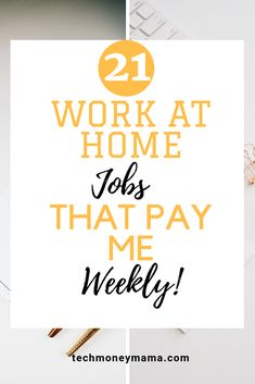 21 Legit Online Jobs That Pay You Weekly! Get paid every week with this 21 online jobs! Earn Money From Home, Earn Money Online, Make More Money, Extra Money, Extra Cash, Work From Home Opportunities, Work From Home Jobs, Online Work From Home, Home Based Business