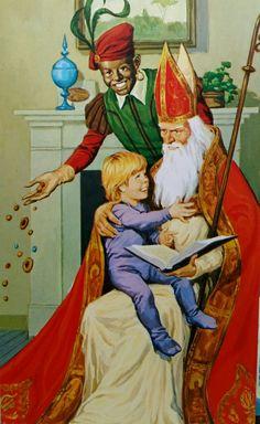 Sinterklaas en Piet op bezoek
