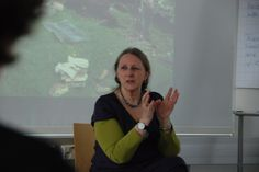 Claire Hewitt storytelling workshop April 2014 at Novia University of Applied Sciences