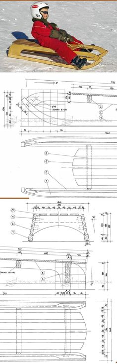 Wooden Sleigh Plans - Children's Plans and Projects | WoodArchivist.com