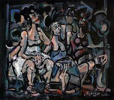 George Dunne- Watchful Woman #art #painting  #DukeStreetGallery Street Gallery, Woman Art, Traditional, Artist, Painting, Female Art, Artists, Painting Art, Paintings
