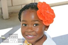 beautiful flower, protective style