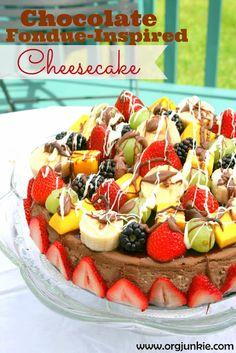 Chocolate Fondee-Inspired Cheesecake