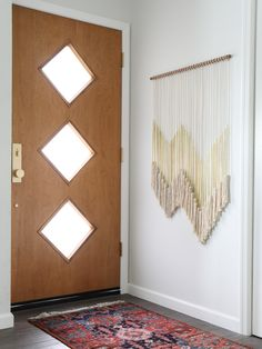 Mid Century 3 Diamond front door