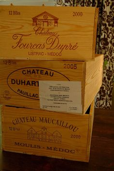 Rather than purchasing the more expensive new wood boxes, Mary of Cherry Tomato cleverly had the idea to visit her local wine store and pick up some wooden boxes there (at $3 each). After that, she painted the front end of them with chalkboard paint, for labeling.