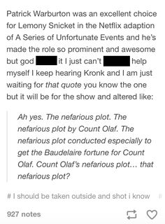 A Series of Unfortunate Events Lemony Snicket, Fandom Crossover, A Series Of Unfortunate Events, Geek Out, Book Fandoms, Book Nerd, Book Worms, Movies And Tv Shows, Funny Quotes