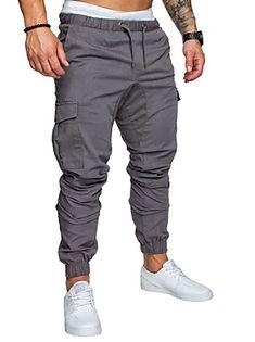 New 2018 Casual Joggers Solid Color Pants Men Cotton Elastic Long Trousers Pantalon Homme Military Army Cargo Pants Men Leggings Harem Sweatpants, Mens Jogger Pants, Men Trousers, Mens Trousers Casual, Cargo Pants Men, Sport Pants, Casual Pants, Men's Pants, Harem Pants