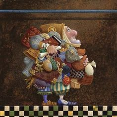 """One of my new favorite paintings, """"The Iron Rod"""" by James C Christensen."""