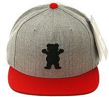 c4d517bd7dd Grizzly Griptape OG Bear Snapback Hat - Heather Gray