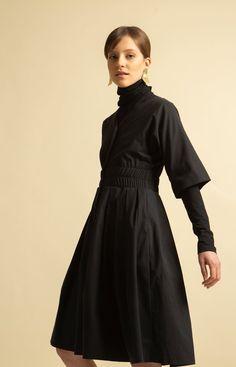Murmur Dress Coal Black Fashion Dresses, High Neck Dress, Collection, Black, Design, Fashion Show Dresses, Turtleneck Dress, Black People, Design Comics