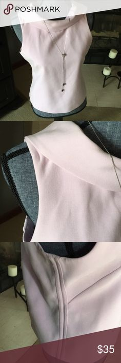 WHBM Light Pink Top Pink White House Black Market Top with dropped down back. White House Black Market Tops Blouses