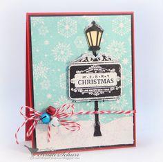 Kristi Schurr: Kristi's Paper Creations: Signs Of Christmas........ - 7/12/14  (JustRite Stamps: Signs of Christmas/ Winter Wonder Background)