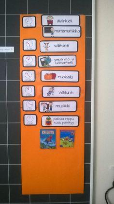 Aamumme alkavat luokassa kalenterin ja lukujärjestyksen tutkimisella. Pohdimme mikä viikonpäivä, kuukausi ja päivän numero tänään on. Mi...