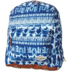 Billabong Blue Nymph Backpack (£34) ❤ liked on Polyvore featuring bags, backpacks, blue, women, logo backpacks, billabong bags, rucksack bag, handle bag and blue backpack